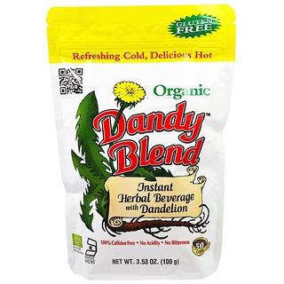Dandy Blend, Instant Herbal Beverage with Dandelion, Caffeine Free, Organic, 3.53 oz (100 g)