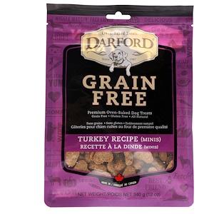 Darford, Grain Free, Premium Oven-Baked Dog Treats, Turkey Recipe, Minis, 12 oz (340 g) отзывы