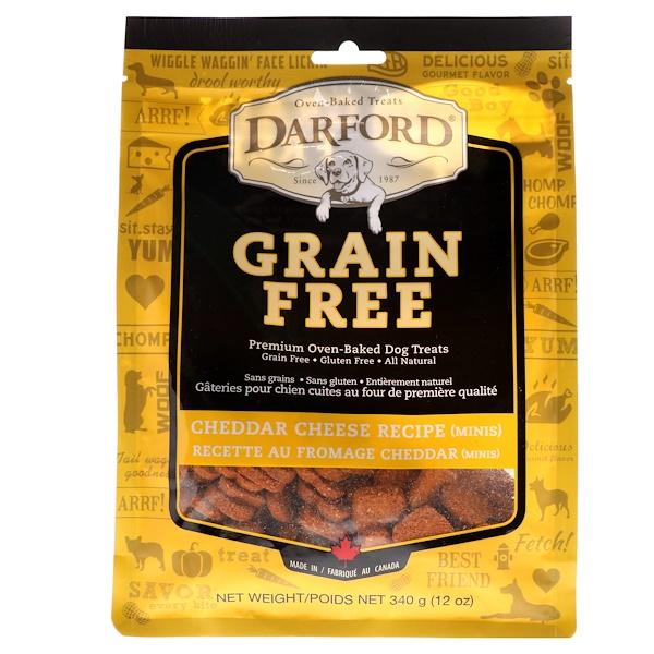 Darford, خال من الحبوب، مخبوزات فاخرة خاصة بالكلاب، جبن الشيدر، قطع صغيرة، 12 أونصة (340 غرام) (Discontinued Item)