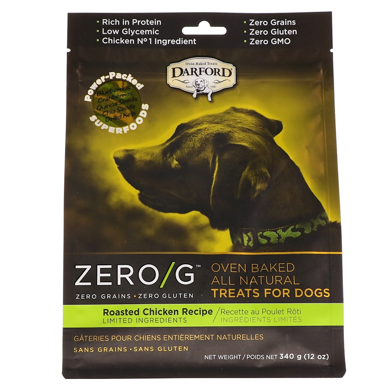 Zero/G, Oven Baked, All Natural, Treats For Dogs, Roasted Chicken Recipe, 12 oz (340 g)
