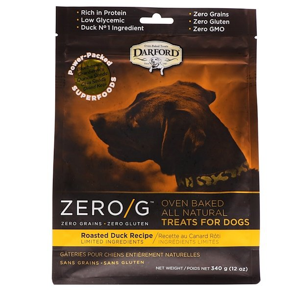 Darford, Zero/G, Oven Baked, All Natural, Treats For Dogs, Roasted Duck Recipe, 12 oz (340 g) (Discontinued Item)
