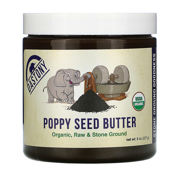 Organic Poppy Seed Butter, 8 oz (227 g)