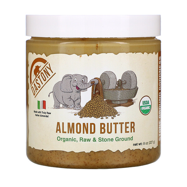 Organic Almond Butter, 8 oz (227 g)