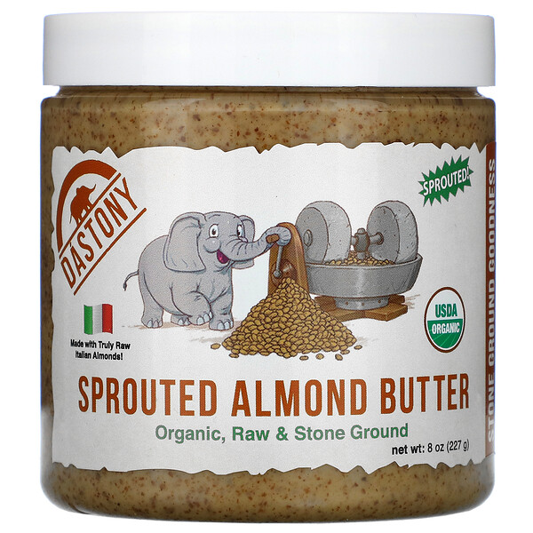 Dastony, Organic Sprouted Almond Butter, 8 oz (227 g)