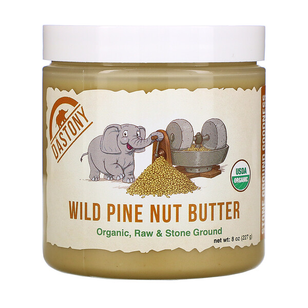 Wild Pine Nut Butter, Organic, Raw & Stone Ground, 8 oz (227 g)