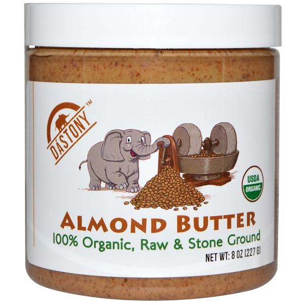 Dastony, 100% Organic, Almond Butter, 8 oz (227 g)