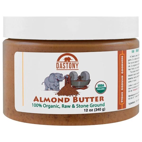 Dastony, 100% Organic, Almond Butter, 12 oz (340 g) (Discontinued Item)