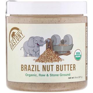 Dastony, Mantequilla de nueces de Brasil 100 % orgánica, 227 g (22 oz)