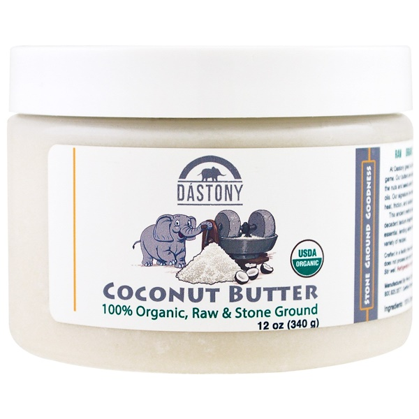 Dastony, 100% Organic, Coconut Butter, 12 oz (340 g) (Discontinued Item)