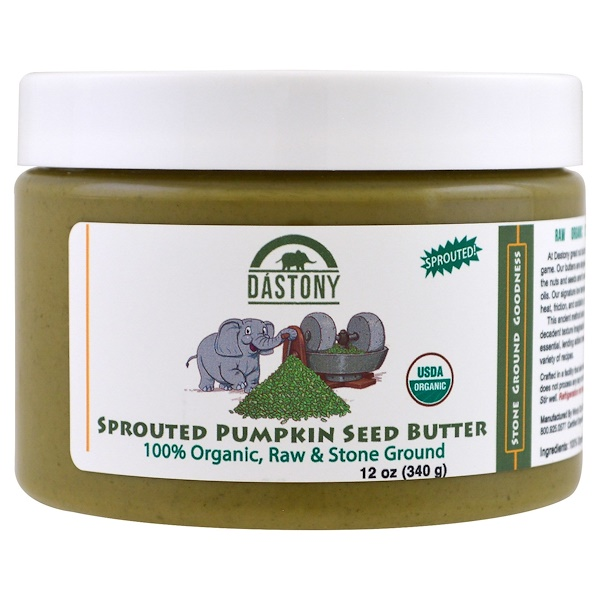 Dastony, 100% Organic, Sprouted Pumpkin Seed Butter, 12 oz (340 g) (Discontinued Item)