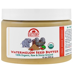 Дастони, 100% Organic, Watermelon Seed Butter, 12 oz (340 g) отзывы