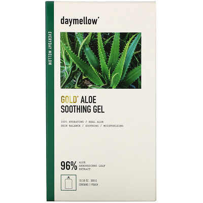 Купить Daymellow Gold, Aloe Soothing Gel, 10.58 oz (300 g)