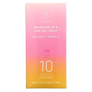 Everydaze, Essential C's Konjac Jelly, Peach, 4 Pouches, 5.07 fl oz (150 ml ) Each