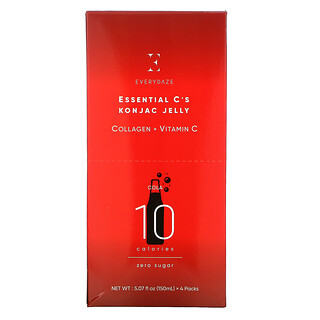 Everydaze, Essential C's Konjac Jelly, Cola, 4 Pouches, 5.07 fl oz (150 ml) Each