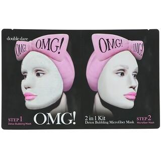 Double Dare, OMG, пузырящаяся маска для выведения токсинов, набор 2 в 1