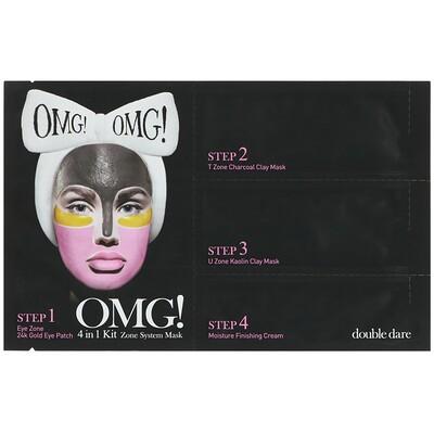 Double Dare OMG!, Zone System Mask, 4 in 1 Kit