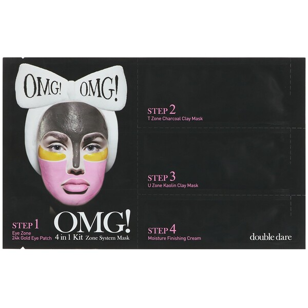 Double Dare, OMG!, Zone System Mask, 4 in 1 Kit