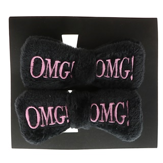 Double Dare, OMG, Hair Up Bow Pin, Black, 2 Pieces