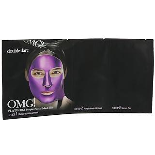 Double Dare, OMG, Platinum Purple Facial Mask Kit, 1 Kit
