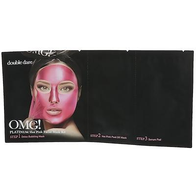 Double Dare OMG!, Platinum Hot Pink Facial Mask Kit, 1 Kit