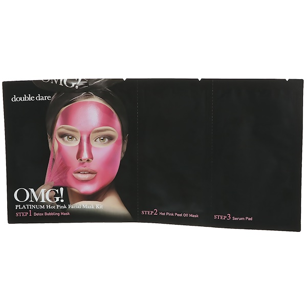 OMG!, Platinum Hot Pink Facial Mask Kit, 1 Kit