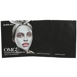 Double Dare, OMG, Platinum Silver Facial Mask Kit, 1 Kit