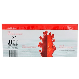 Double Dare, Jet Set Super Hydrating Mask Kit, 2 in 1 Soothing Mask Kit, 2 Piece Kit