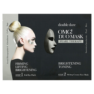 Double Dare, OMG! Duo Beauty Mask, Pearl Therapy, 1 Set