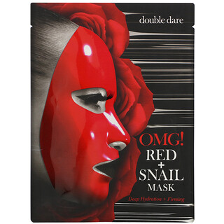 Double Dare, قناع الجمال Red Snail، 1 قناع ورقي، 0.92 أونصة (26 جم)