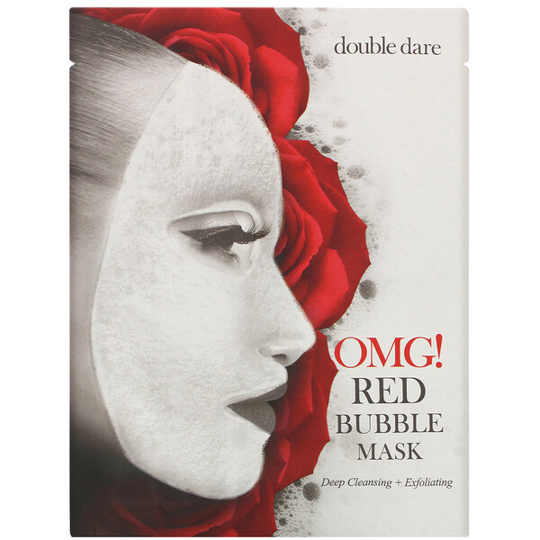OMG!, Red Bubble Mask, 1 Sheet, 0.71 oz (20 g)