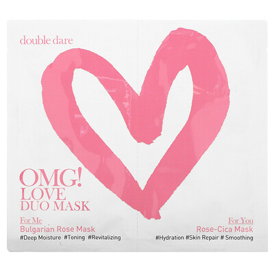 Double Dare OMG! Love Duo Beauty Mask, 2 Masks