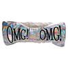 Double Dare, OMG! Reversible Mega Hair Band, White Plush & Rainbow Platinum, 1 Piece