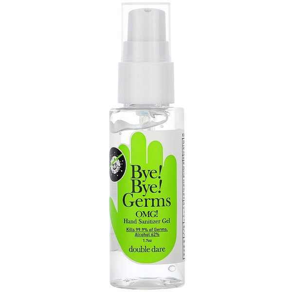 Double Dare, OMG!, Bye Bye Germs, Hand Sanitizer Gel, Alcohol 62%, 1.7 oz