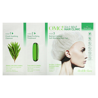 Double Dare, OMG! 3-in-1 Self Hair Clinic, For Scalp Care, 3 Step Kit