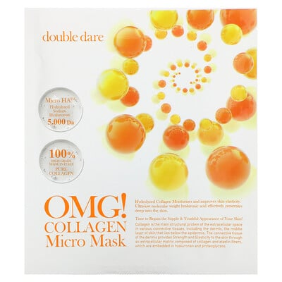 Double Dare OMG! Collagen Micro Beauty Mask, 1 Sheet, 0.98 oz (28 g)