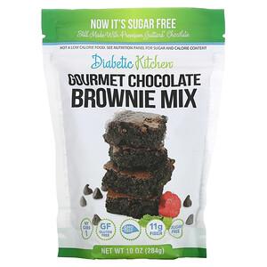 Diabetic Kitchen, Gourmet Chocolate Brownie Mix, 10 oz (284 g)'
