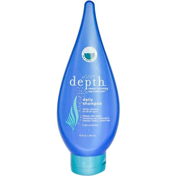 Depth Body LLC, Daily Shampoo, 10 fl oz (295 ml) (Discontinued Item)