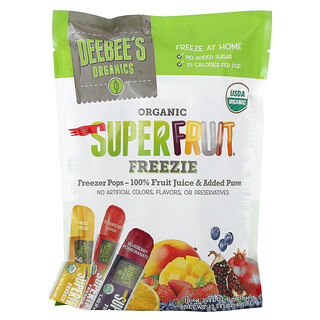 Deebees Organic, Superfruit Freezie, Assorted Flavors, 10 Bars, 1.35 fl oz (40 ml) Each