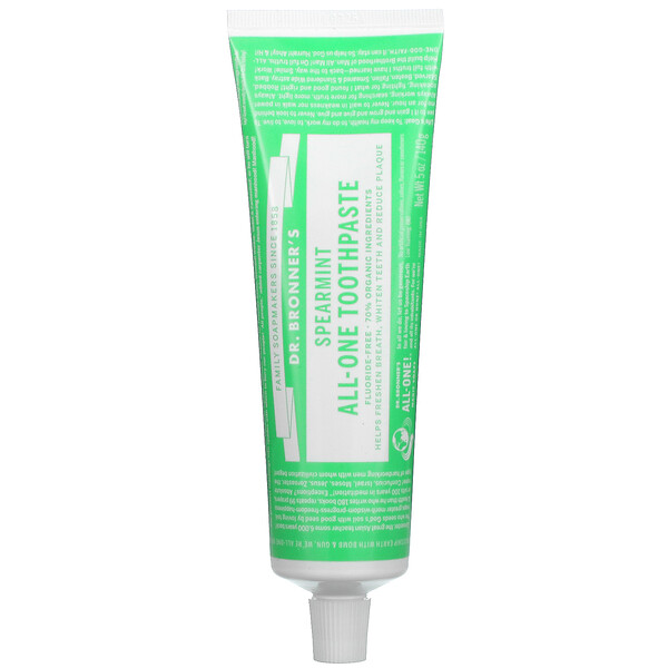All-One Toothpaste, Spearmint, 5 oz (140 g)