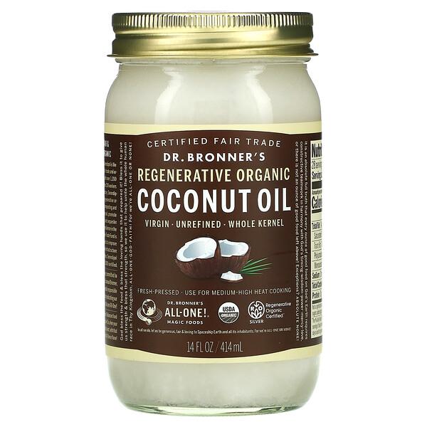 Regenerative Organic Coconut Oil, Whole Kernel, 14 fl oz (414 ml)