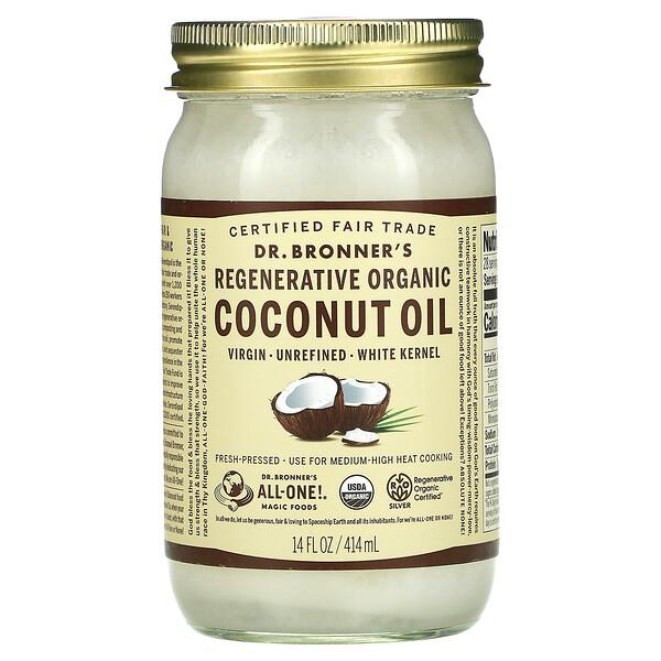 Regenerative Organic Coconut Oil, White Kernel, 14 fl oz (414 ml)