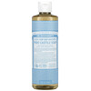 Dr. Bronner's, 18-in-1 Hemp  Pure-Castile Soap, Baby Unscented, 16 fl oz (473 ml)