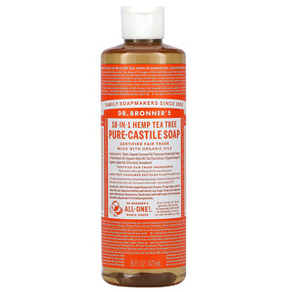 Dr. Bronner's, 18-in-1 Hemp Pure-Castile Soap, Tea Tree, 16 fl oz (473 ml)