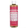 Dr. Bronner's, 18-in-1 Hemp Pure-Castile Soap, Rose, 16 fl oz (473 ml)
