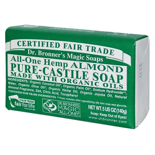 Dr. Bronner's Magic Soaps, Hemp Almond, Pure Castile Soap, 5 oz (140 g) (Discontinued Item)