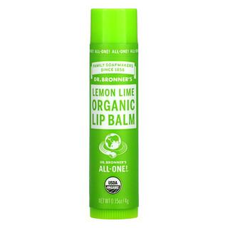 Dr. Bronner's, Organic Lip Balm, Lemon Lime, 0.15 oz (4 g)