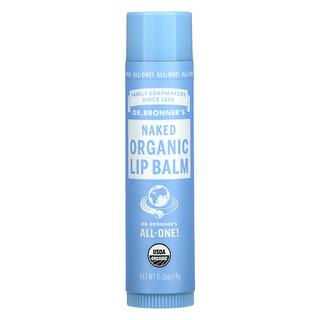 Dr. Bronner's, Organic Lip Balm, Naked, 0.15 oz (4 g)