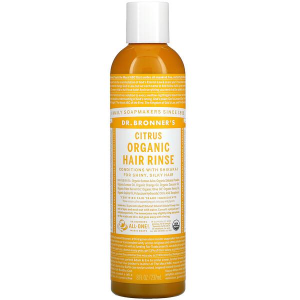 Organic Hair Rinse, Citrus, 8 fl oz 237 ml
