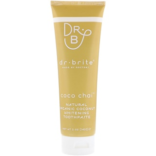 Dr. Brite, Natural Organic Coconut Whitening Toothpaste, Coco Chai, 5 oz (142 g)