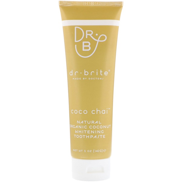 Dr. Brite, Natural Organic Coconut Whitening Toothpaste, Coco Chai, 5 oz (142 g) (Discontinued Item)